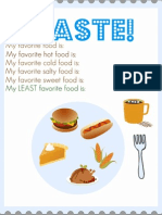 All About Me Taste