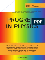 Progress in Physics, Vol. 4, 2011