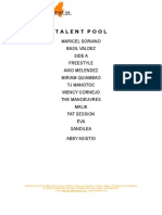 Talent Pool - For E-mail
