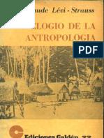 Levi Strauss Elogio de La Antropologia