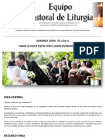 Equipo Pastoral de Liturgia. Subsidio Domingo XXVIII. to. Ciclo a. Inviten a la Fiesta a todos los que encuentren
