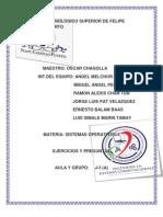 EJERCICIOS DE CHAGOLLA