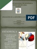 APLICACIÓN DE LA ESTADÍSTICA A LA INGENIERIA (1)