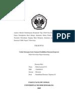 Analisis Metode Pembelajaran Kooperatif Tipe STAD Dan Pengaruhnya Terhadap Upaya Peningkatan Hasil Belajar Akuntansi Dalam Pokok Bahasan Pencatatan Transaksi Perusahaan Dagang Mata Pelajaran Akuntansi pada Siswa Kelas II Semester I SMU Negeri 7 Purworejo