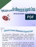 APLICACIÓN ECUACION DIFERENCIAL SEGUNDO ORDEN