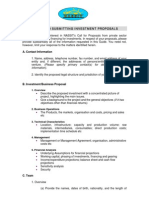 A Guide to Submitting Investment Proposals