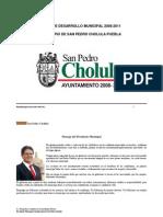 Plan de Desarrollo Municipal San Pedro Cholula