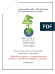 Compte Rendu Final (3.9.11) Du Colloque Senegal-France Du 11-07-2011, Palais Bourbon