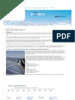Qui Sommes-nous - Eco Delta Developpement