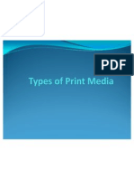 Types of Print Media 3-C