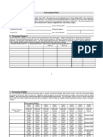 Procurement Plan Template 1.2