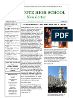 Northcote High School Newsletter 30 August 2011