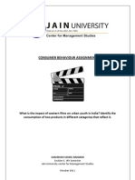 Consumer Behaviour-Impact of Western Cinema on Indian Youth