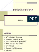An Introduction to MR