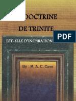 LA DOCTRINE DE TRINITE EST-ELLE D'INSPIRATION DIVINE ?