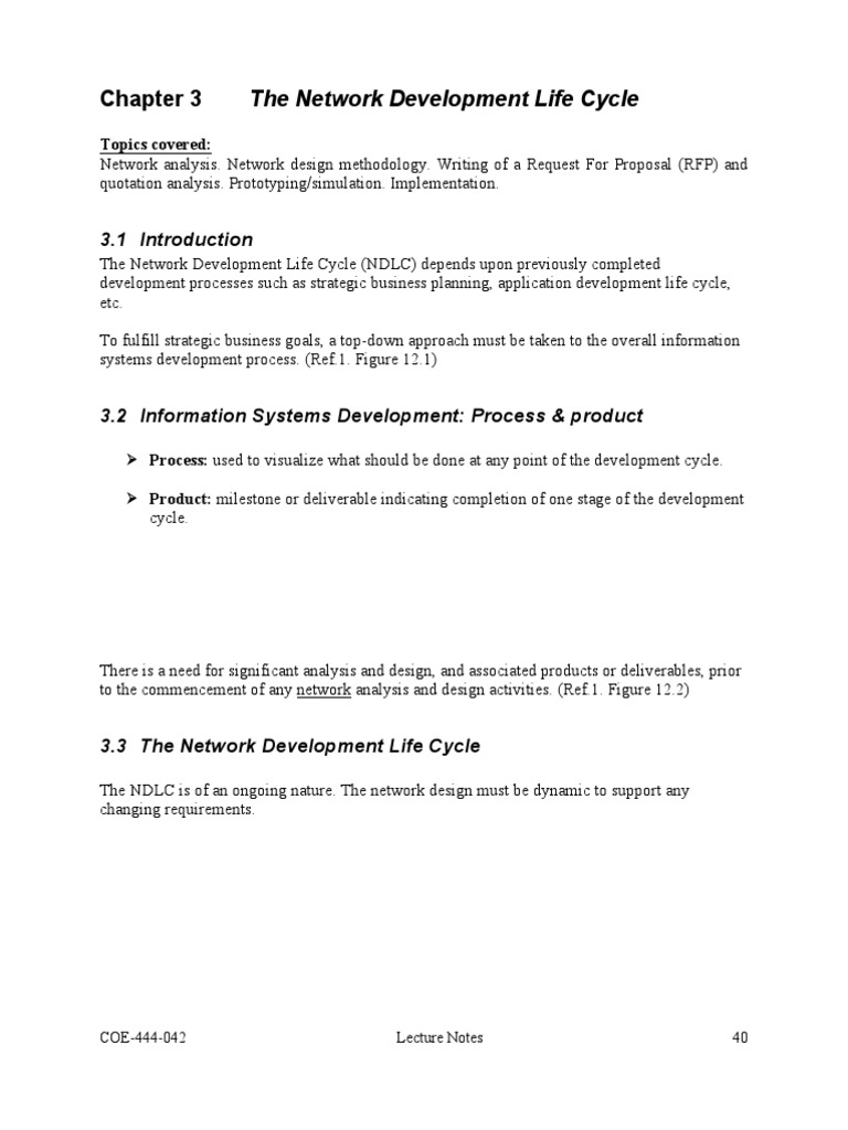 ndlc network development life cycle