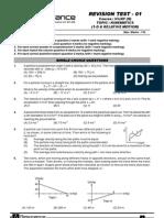 Revision Test Physics