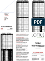 Outdoor Soccer Fixtures Summer 2011/2012