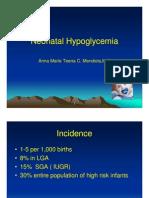 Mendiola-Neonatal Hypoglycemia Ppt 1