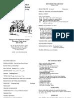 October 9 2011 Bulletin
