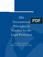 IBA International Principles on Conduct for the Legal Profession May 2011