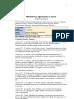 Proyecto de Ley de Mediación Ambiental - año 2009
