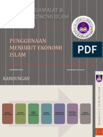 Mei - Penggunaan Ekonomi Islam
