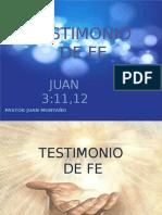 TESTIMONIO DE FE