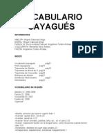 Vocabulario Sayagués (2008)