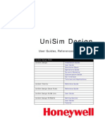 UniSim Design Menu