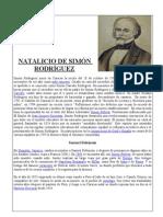 NATALICIO DE SIMÓN RODRÍGUEZ