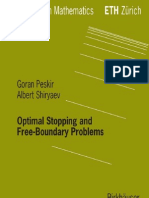 Shiryaev a., Peskir G. Optimal Stopping and Free-Boundary Problems s