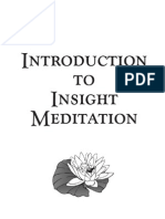 Introduction to Insight Meditation PDF