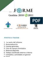 Informe de Gestión - Consejería Estudiantil de FAUV 2010 - 2011