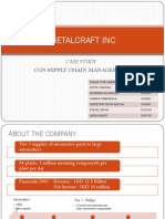 Metalcraft Inc Case Study