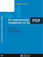 Libro El empresario inmigrante en España