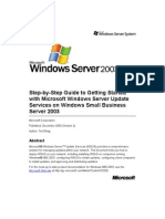 SBS 2003-Step-By-Step Guide to Getting Started With Microsoft Windows Server Update Services
