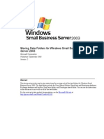 SBS 2003-Moving Data Folders for Windows Small Business Server 2003