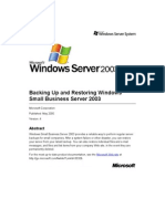 SBS 2003-Backing Up and Restoring Windows Small Business Server 2003