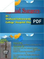 SPINAL SURGERY-  At  Shaheed Suhrawardy Medical College Hospital, Dhaka, Bangladesh.