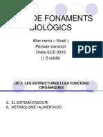 Bloc comú I-Fonaments Biològics-UD2 IV(Sistema Endocrí i Metabolisme)