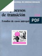 Los Procesos de Transicion - Revista Internacional de Ciencias Sociales