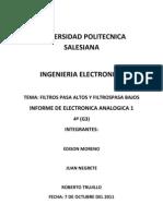 Informe de Lab Oratorio N 2