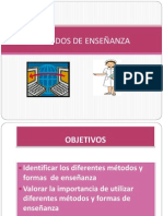 METODOS Y FORMAS DE ENSEÑANZA