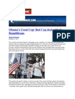 09-10-11 Obama's Good Cop/Bad Cop deal with the Republicans