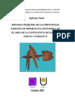 000001-Biologia Pesquera de Las Principales Especies de Import an CIA Economica en El Area de La cia de Los Rios Parana y Paraguay
