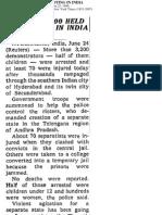 New York times- Telangana 1969