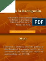 DERECHO PROCESAL III Actos de la investigación