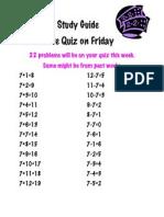 Math Study Guide 7's