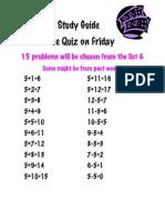 Math Study Guide 5's